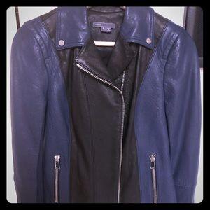 NWOT Vince Color Block Leather Jacket